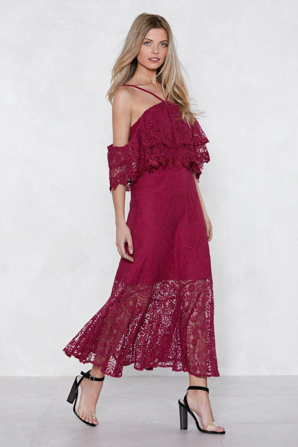 b9261004e472 Hover to zoom · Womens Cherry Without a Lace Maxi Dress