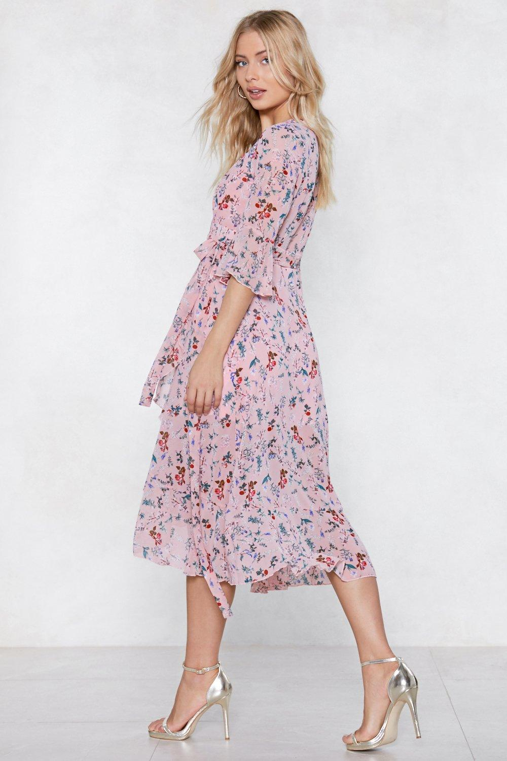 96021e647a4 Womens Blush Spring the Fun Wrap Dress. Hover to zoom