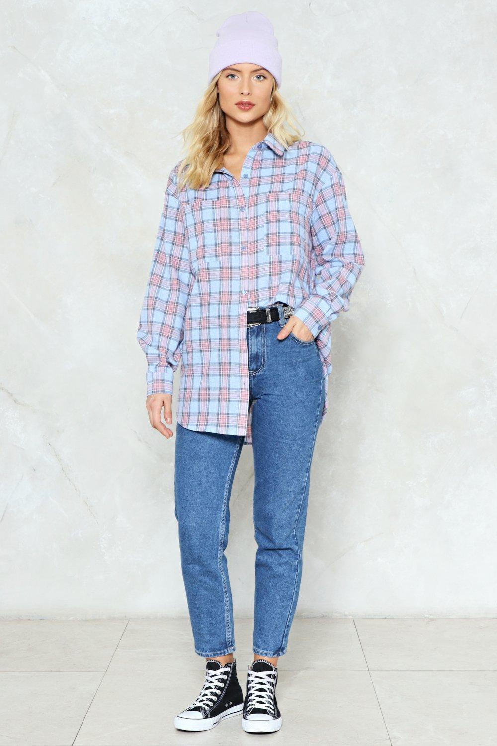 be81629a7e9 In Check Oversized Shirt | Shop Clothes at Nasty Gal!