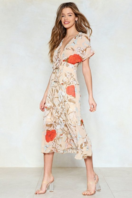 Cover The Field Floral Dress by Nasty Gal