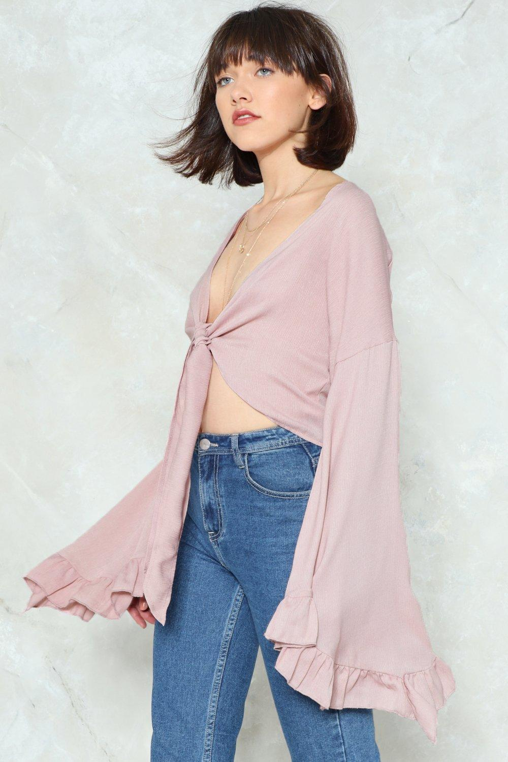 8c2f50a539d72 The Frill of the Chase Bell Sleeve Top