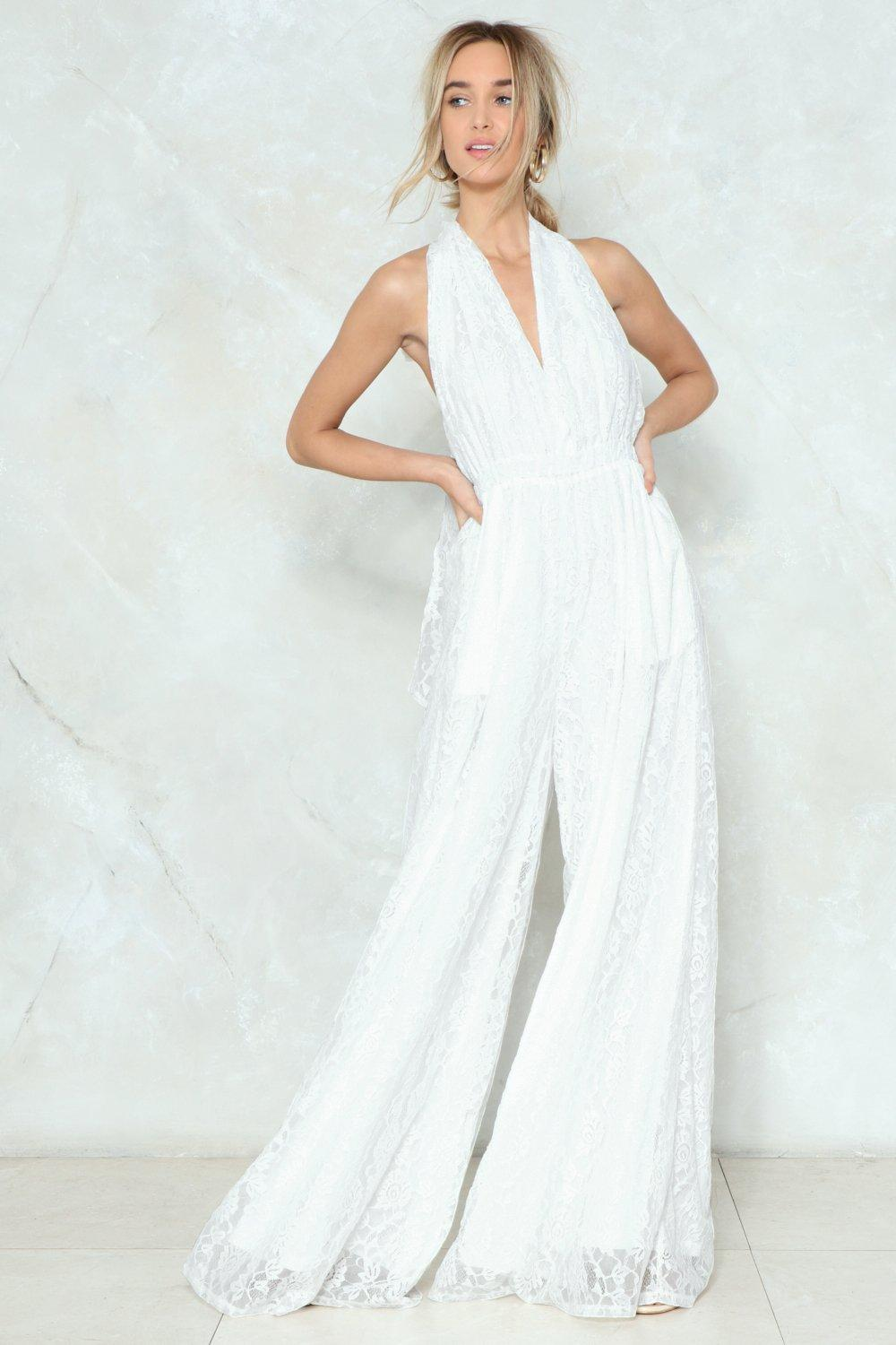 aa5a8be8b5 Lace Your Fears Wide-Leg Jumpsuit | Shop Clothes at Nasty Gal!