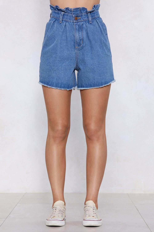 522d3ffdf1 Whole Bag of Tricks Paperbag Denim Shorts | Shop Clothes at Nasty Gal!