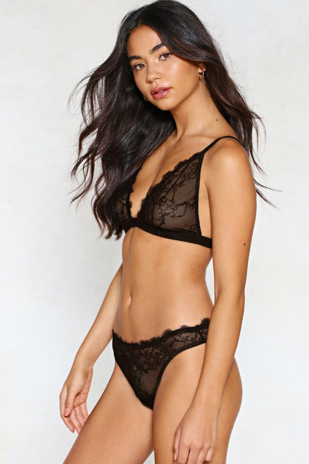 81d6b25f02302 Set For Anything Lace Bralette and Panty Set