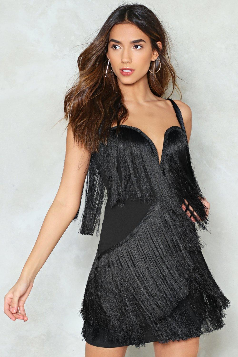 Once Youve Got The Shakedown Fringe Dress