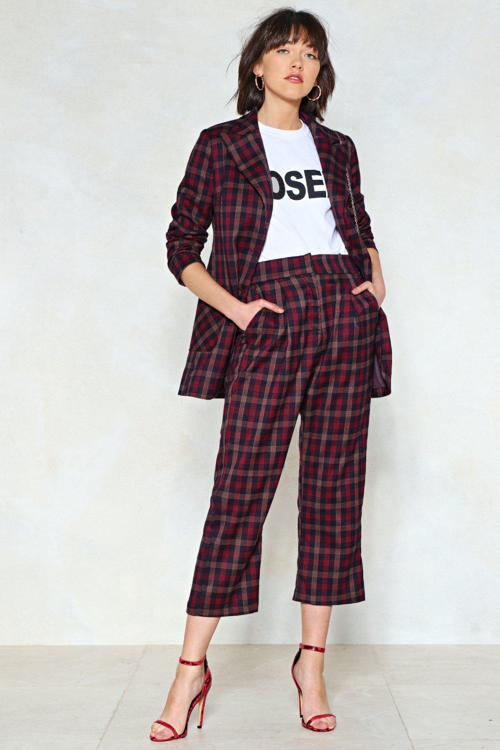 d8b41c1fb296 Mind Your Business Check Pants | Shop Clothes at Nasty Gal!