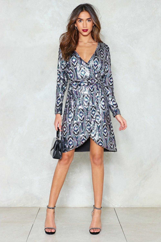 58c811bf0c Womens Black Disco Nights Sequin Dress.