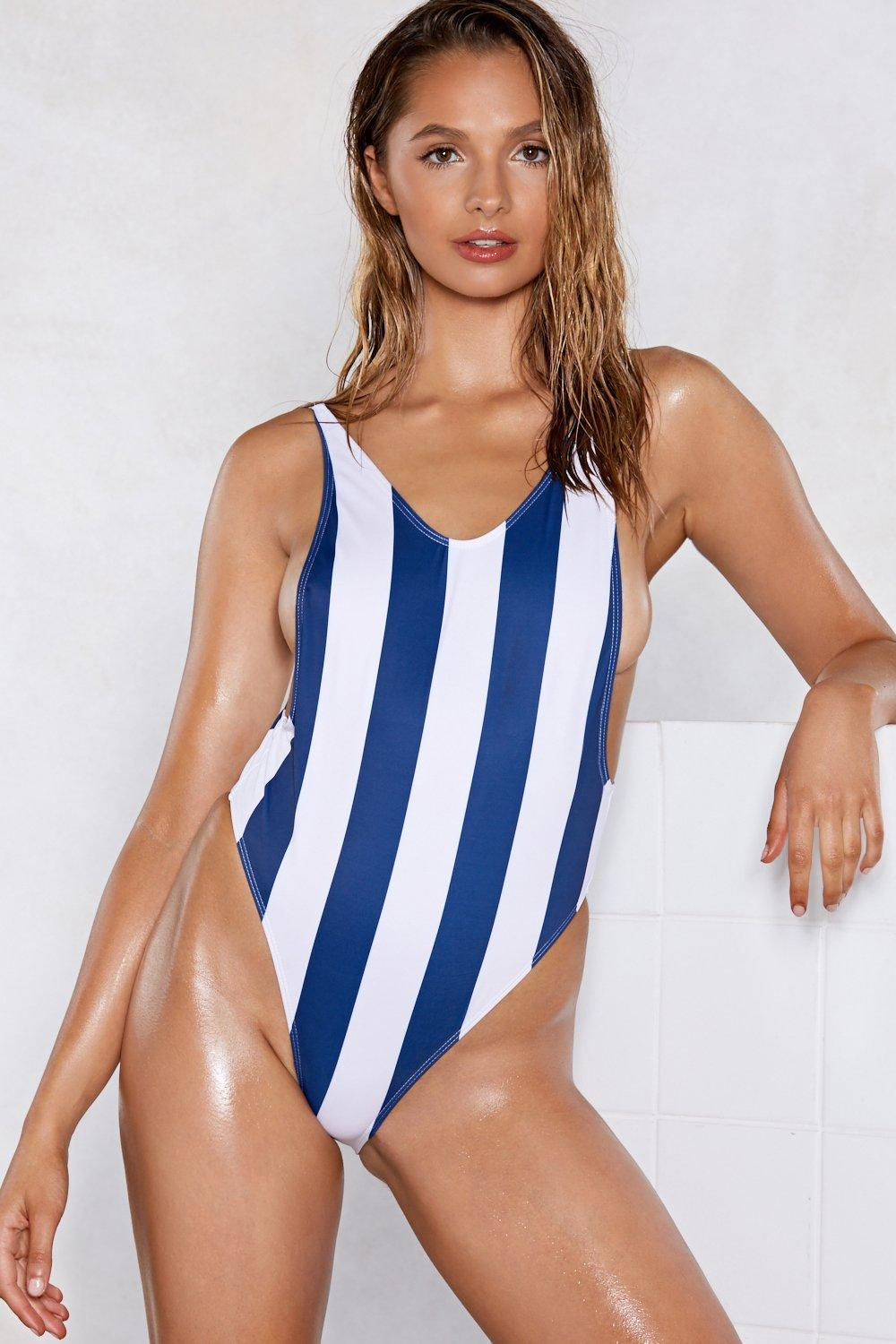 f9bb0ef7b50b8 Nasty Gal Alina Striped Swimsuit   Shop Clothes at Nasty Gal!