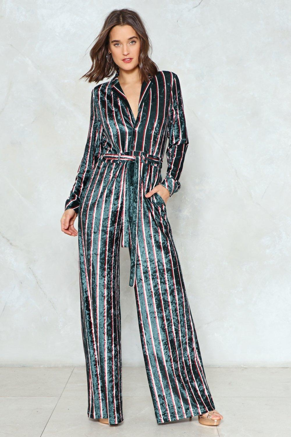 38a7be45fc1 Jump to It Striped Jumpsuit