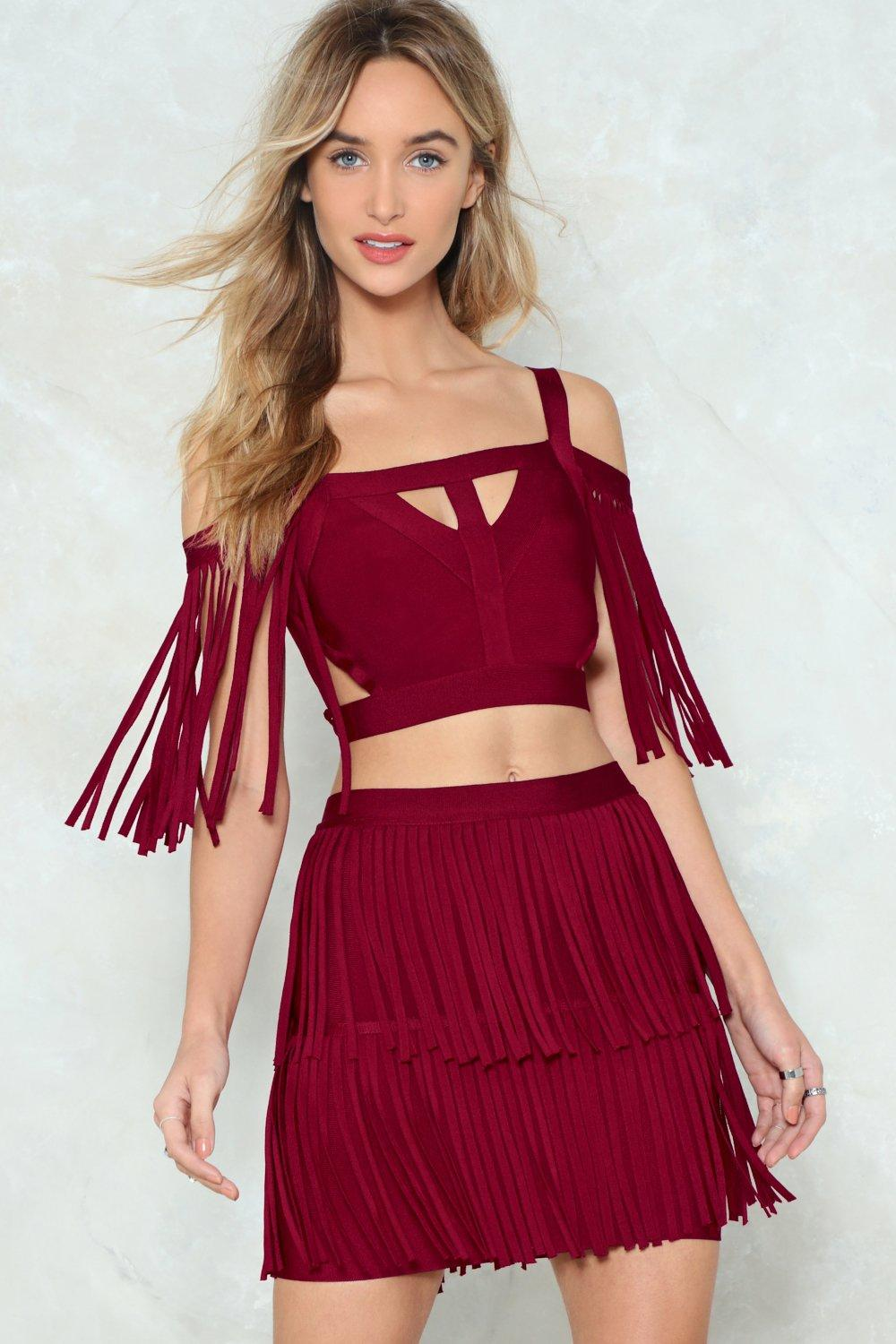 e406a7b654a You're a Complete Babe Fringe Top and Skirt Set | Shop Clothes at ...