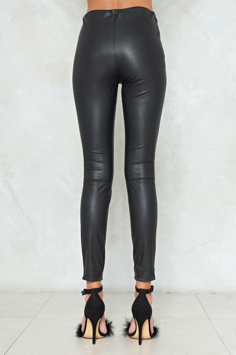 d400fd0f25d7 So Close Faux Leather Leggings   Shop Clothes at Nasty Gal!