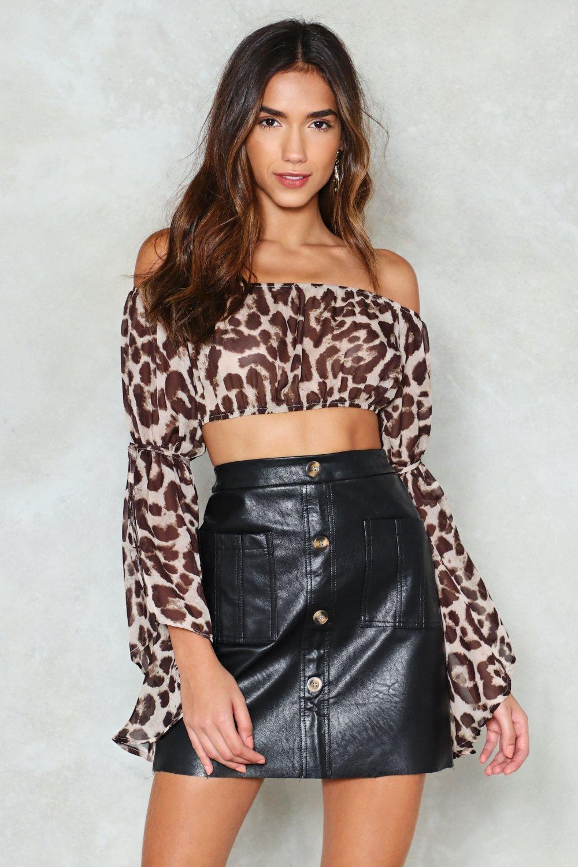 8351fc3c4c8bf Wild Dancing Leopard Crop Top