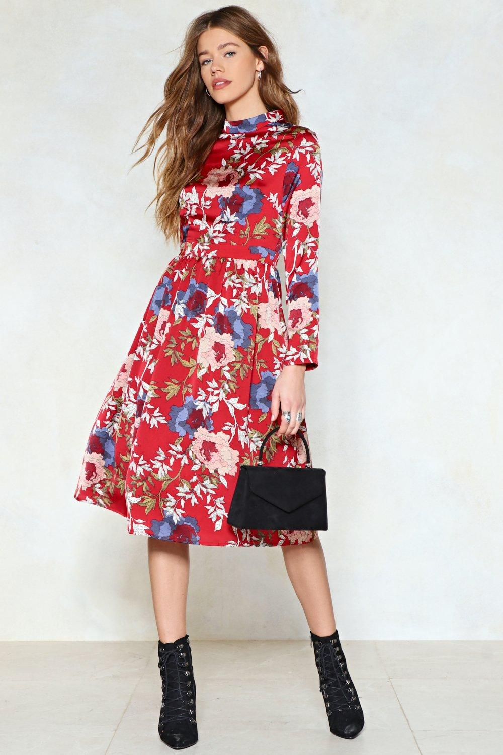a41f03c00 Womens Red Garden Party Floral Dress