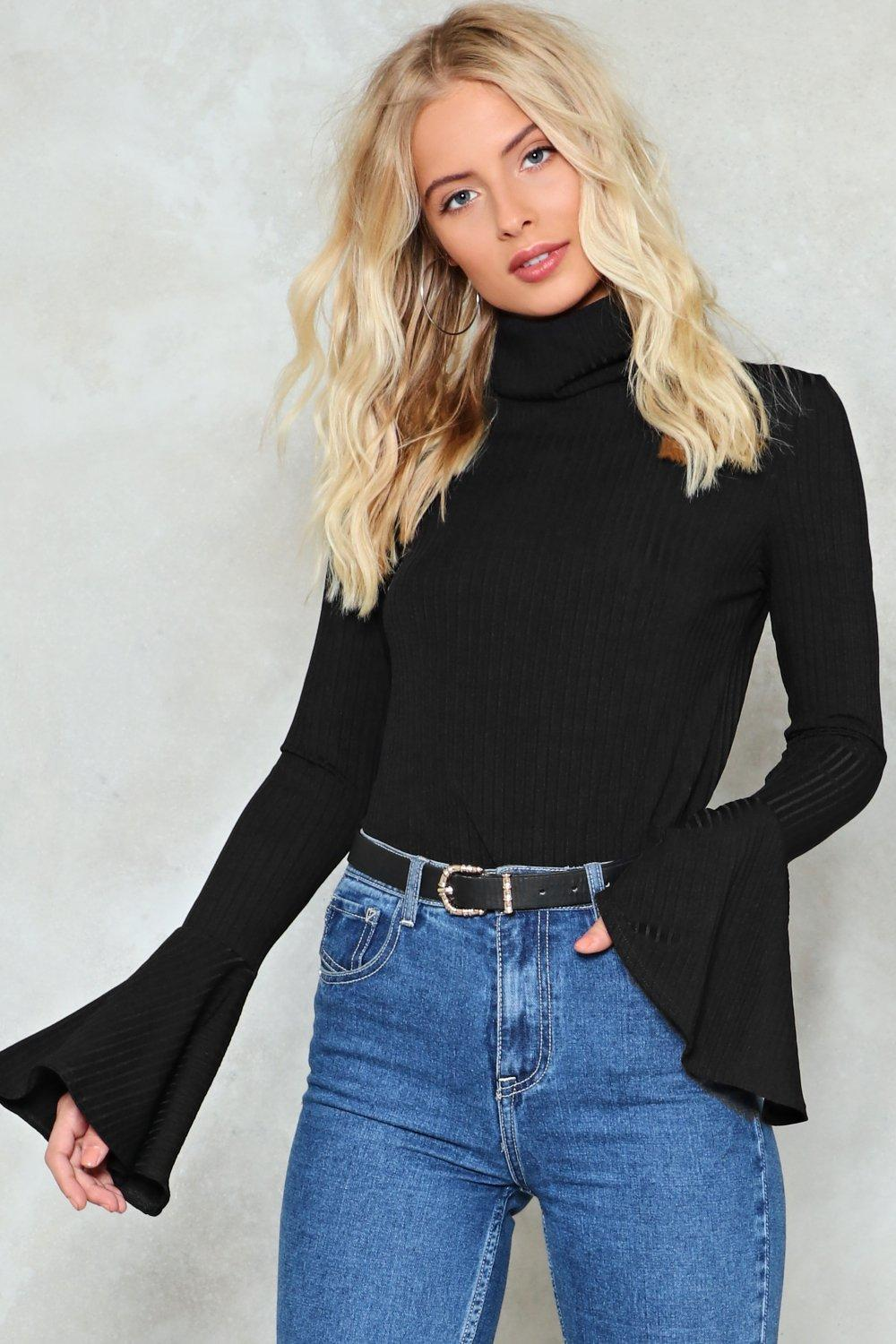 Flare To Dream Turtleneck Sweater by Nasty Gal