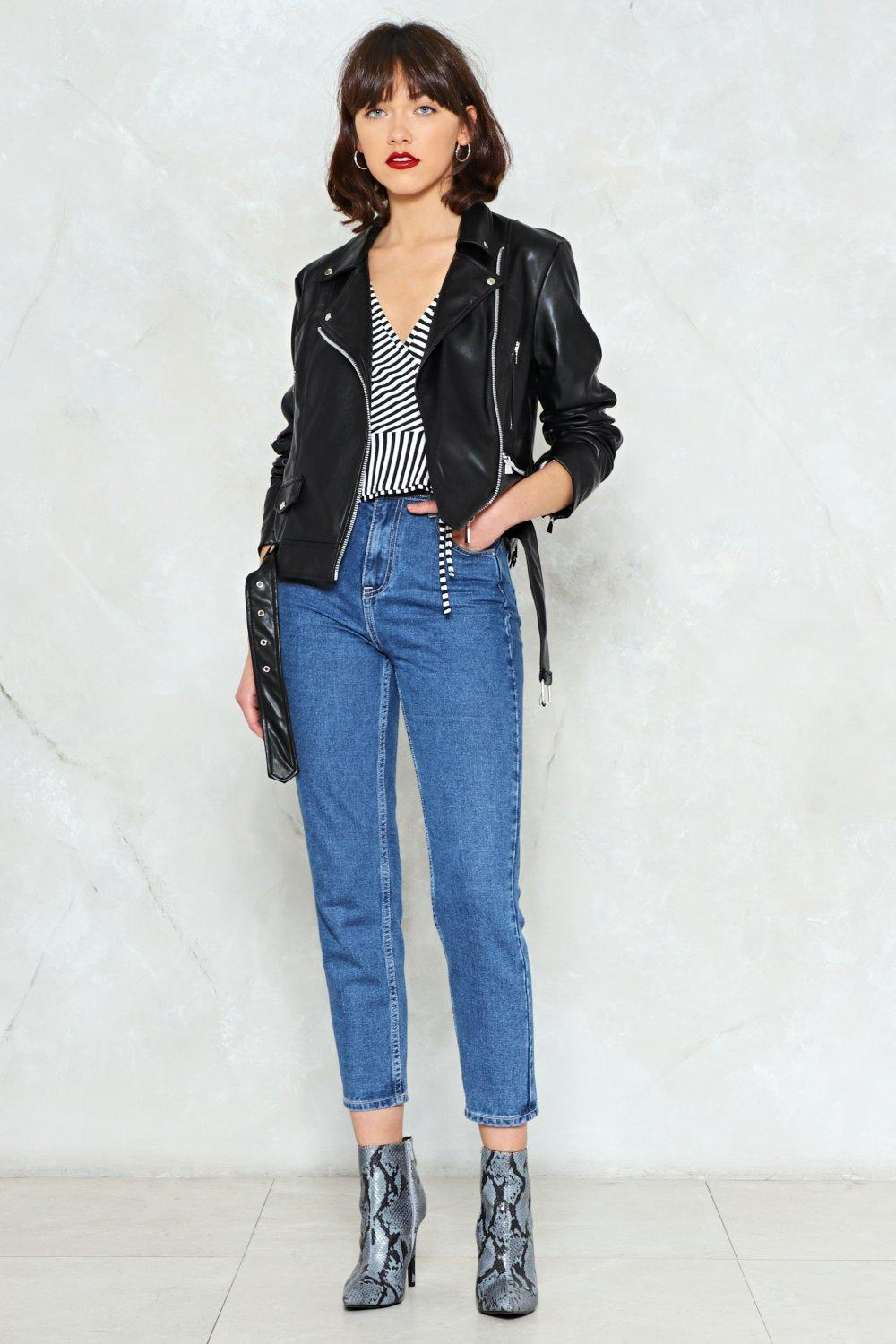 Together For-Leather Moto Jacket   Shop Clothes at Nasty Gal!