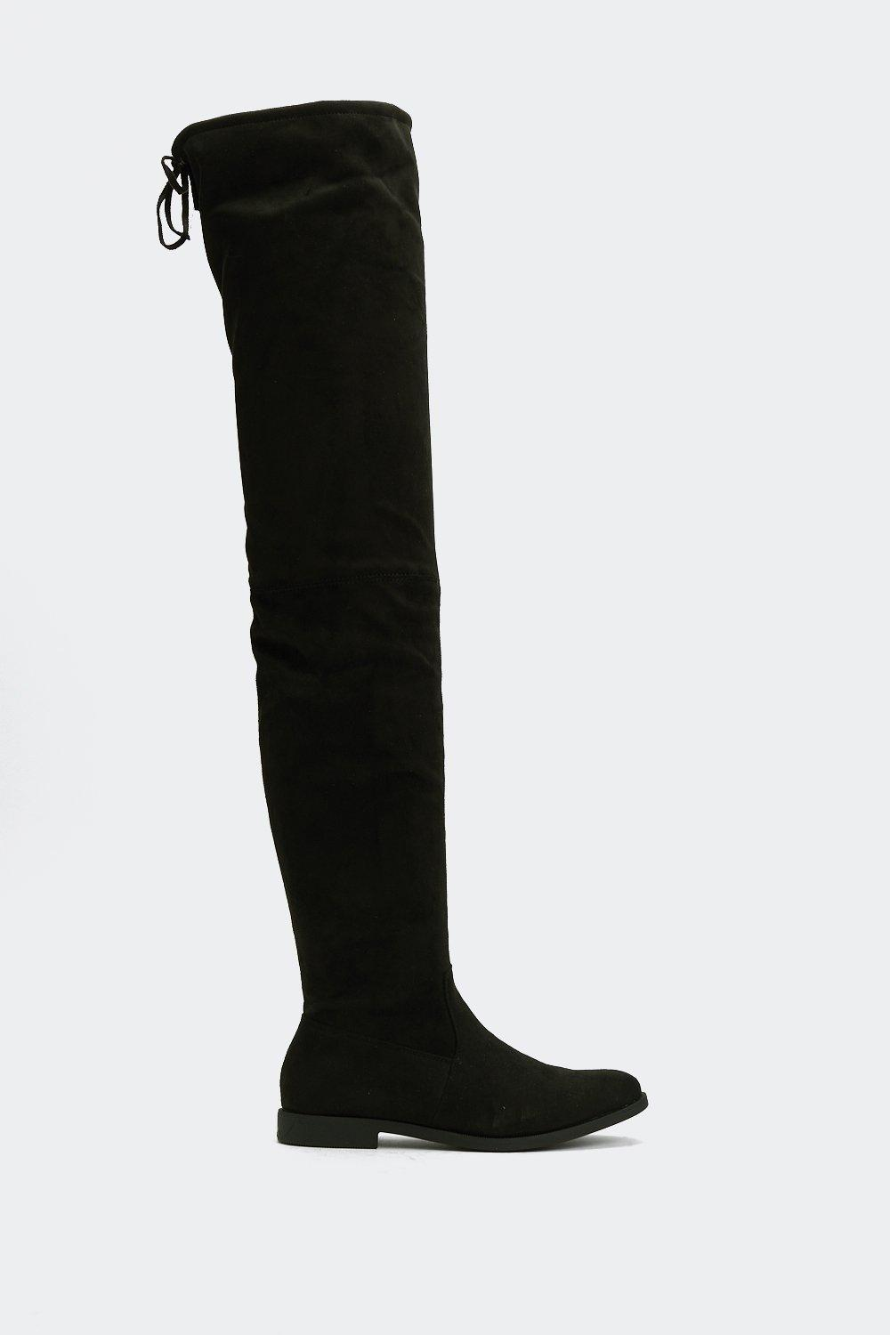 Give It All You've Got Thigh High Boot by Nasty Gal