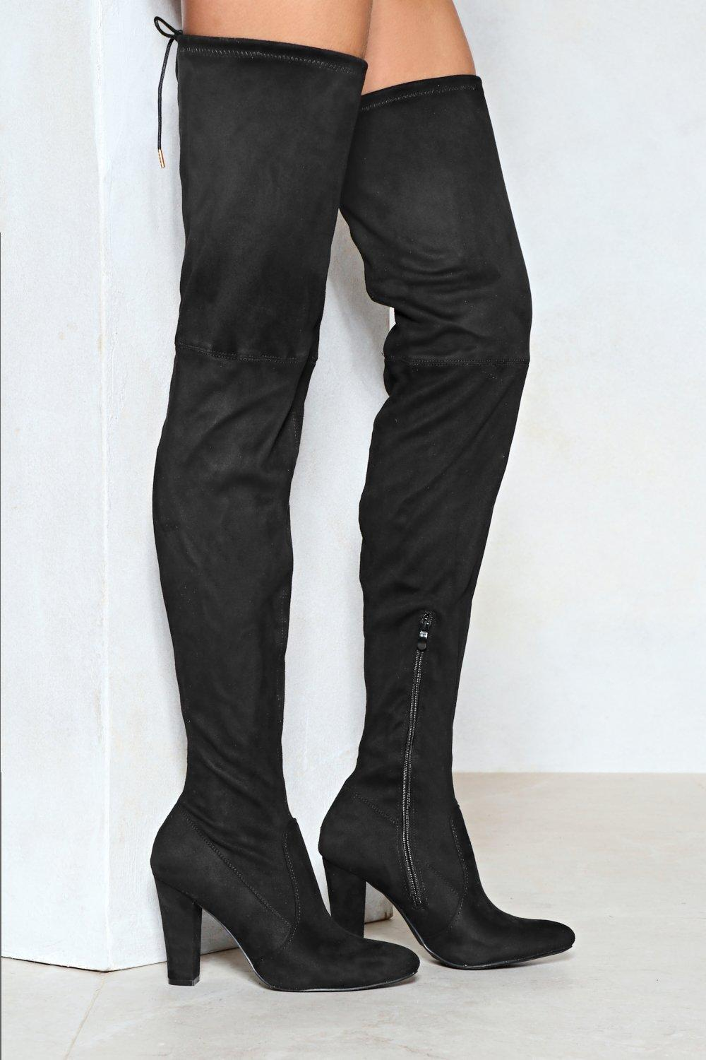 e927be26da Reach Out Faux Suede Thigh-High Boot | Shop Clothes at Nasty Gal!