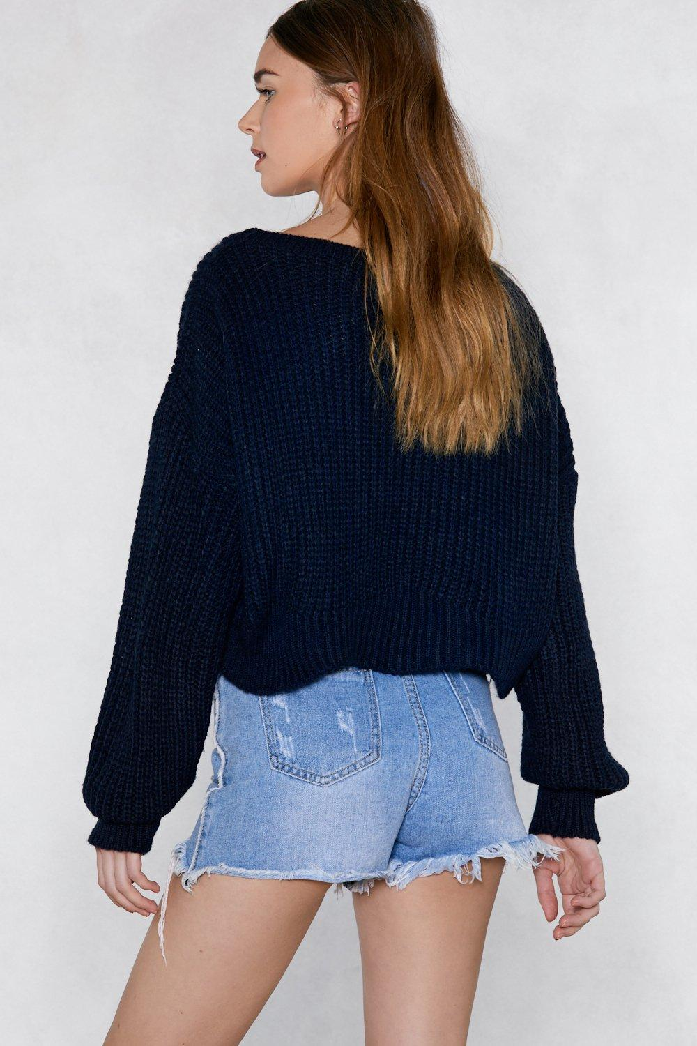 d4565a854f9 Womens Navy Chill Out Oversized Sweater