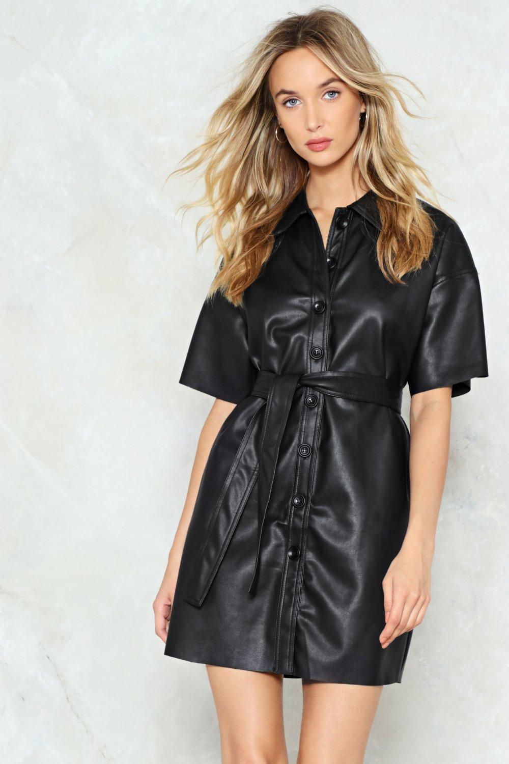 7911c509e Button Down for Whatever Faux Leather Dress | Shop Clothes at Nasty Gal!