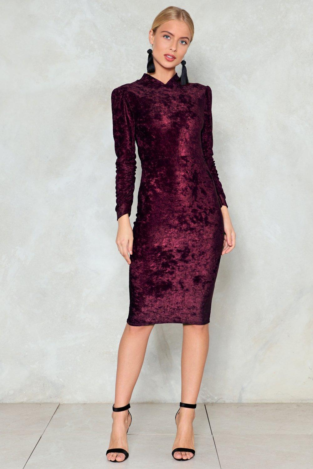 a8dd5a33bf41a Late Night Ruche Velvet Dress | Shop Clothes at Nasty Gal!