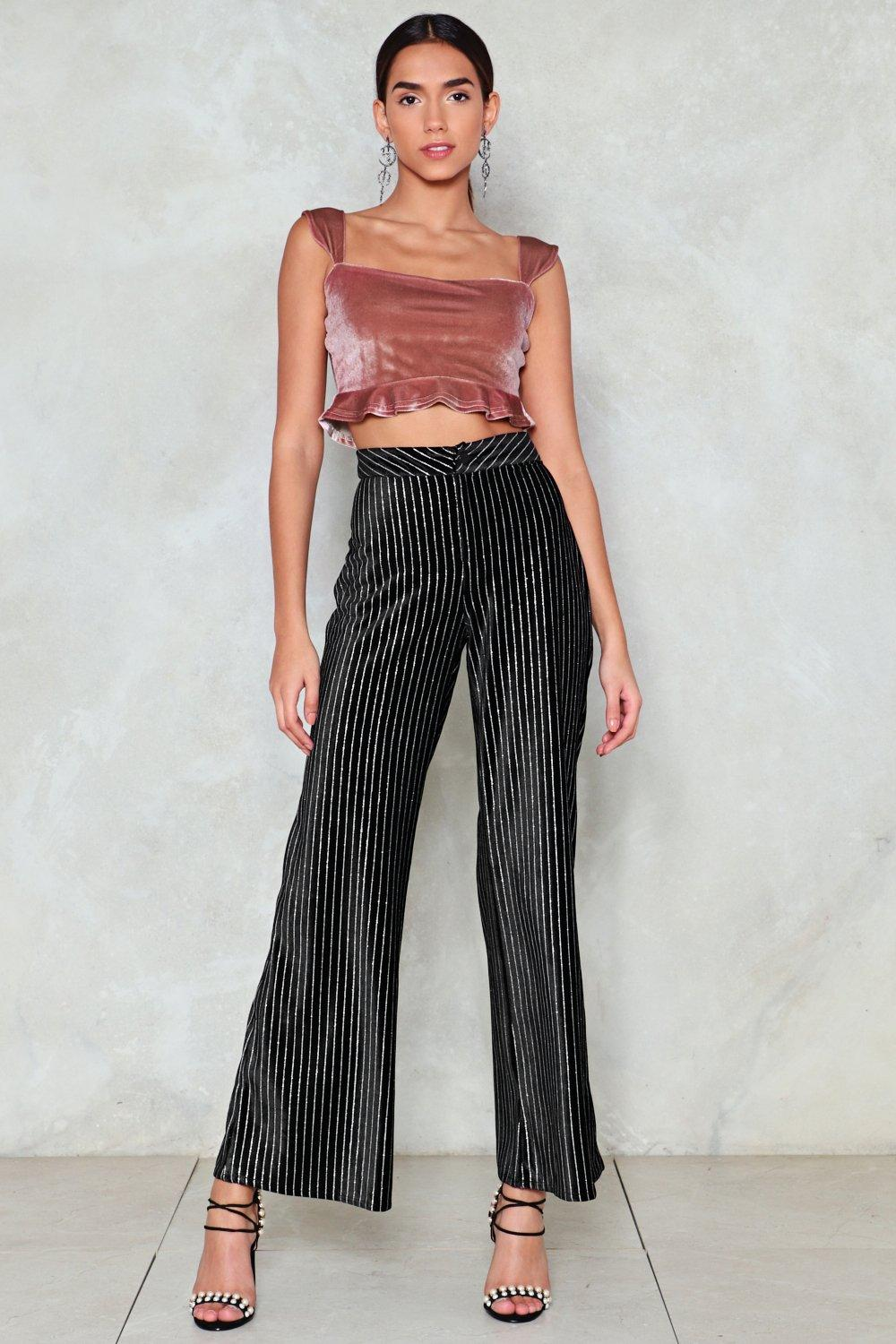 5651a97b26f68 Any Minute Now Velvet Crop Top