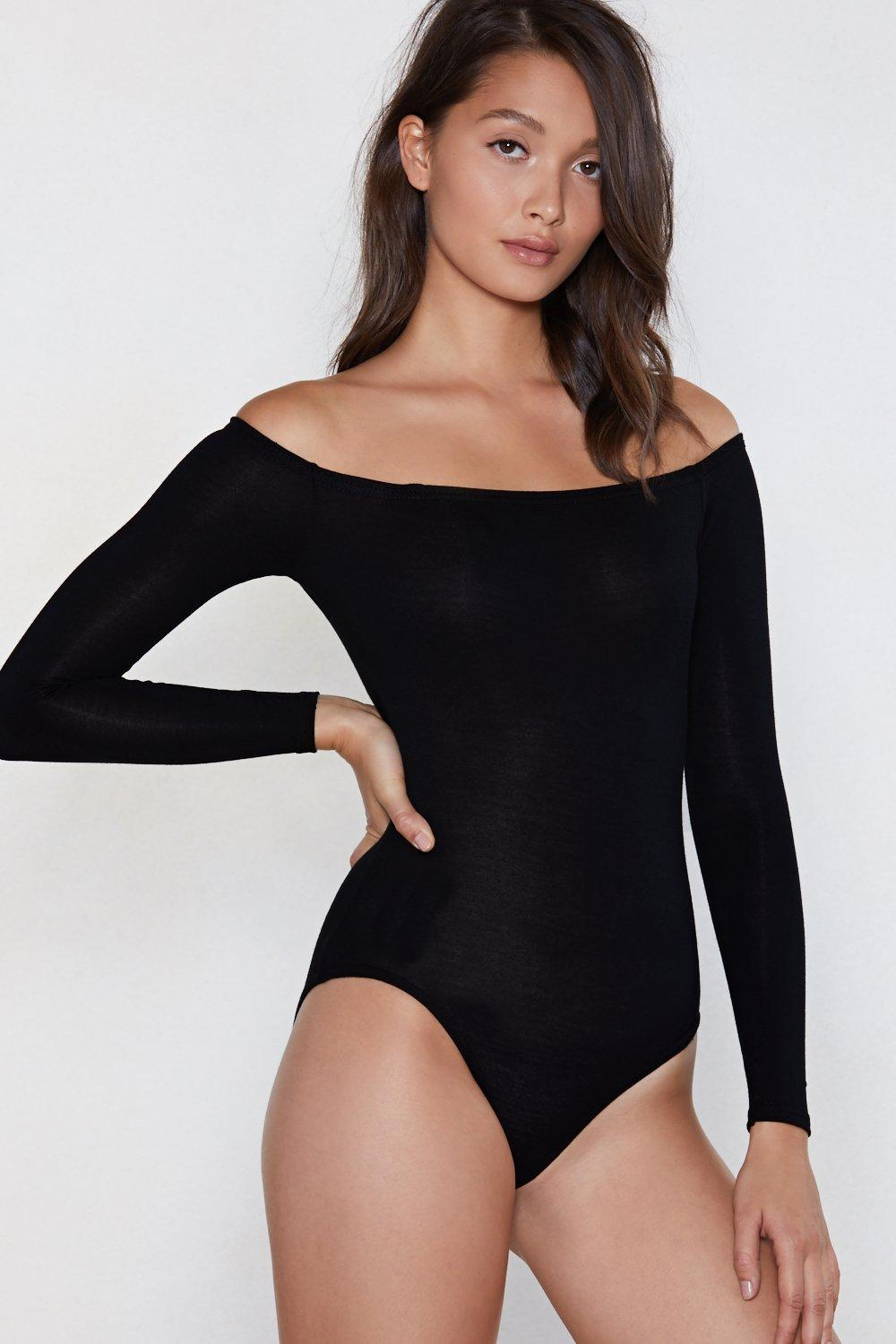 ff29e85aaa0 Going Back to Basics Off-the-Shoulder Bodysuit | Shop Clothes at ...