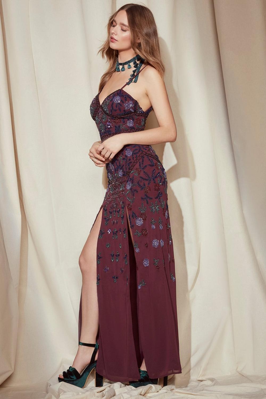 Nasty Gal Studio Ella Embellished Maxi Dress Shop Clothes At Nasty