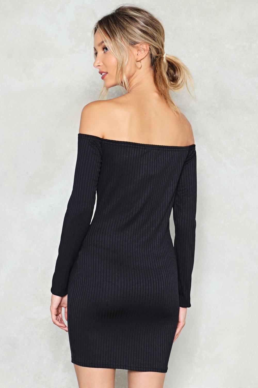 6dc78c71ef02 ... Ribbed Off-the-Shoulder Dress. Hover to zoom