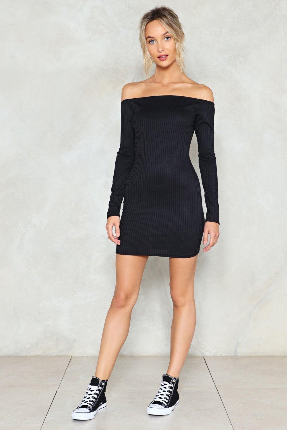dc20e19e5 On and Off Ribbed Off-the-Shoulder Dress | Shop Clothes at Nasty Gal!