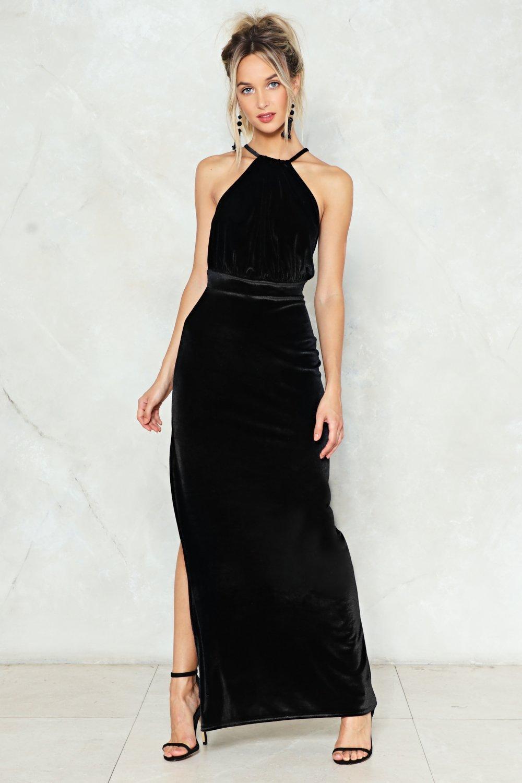 Maxi Velvet dress pictures 2019
