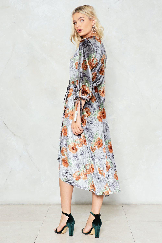 510e6046b9 Love like Ghosts Velvet Wrap Dress