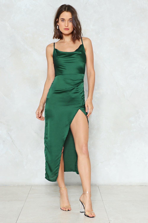 cowl play satin dress shop clothes at nasty gal