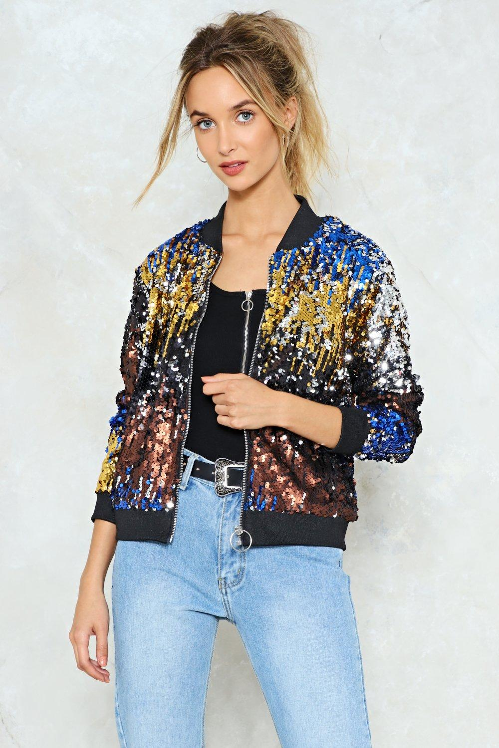 b0fb6fc67 Talk of the Town Sequin Bomber Jacket | Shop Clothes at Nasty Gal!