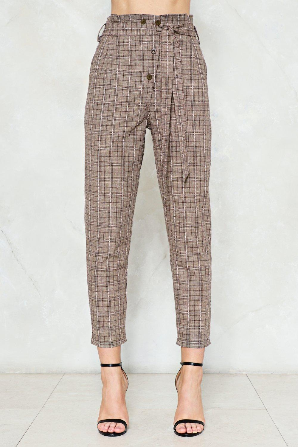 accept the truth high waisted pants shop clothes at nasty gal