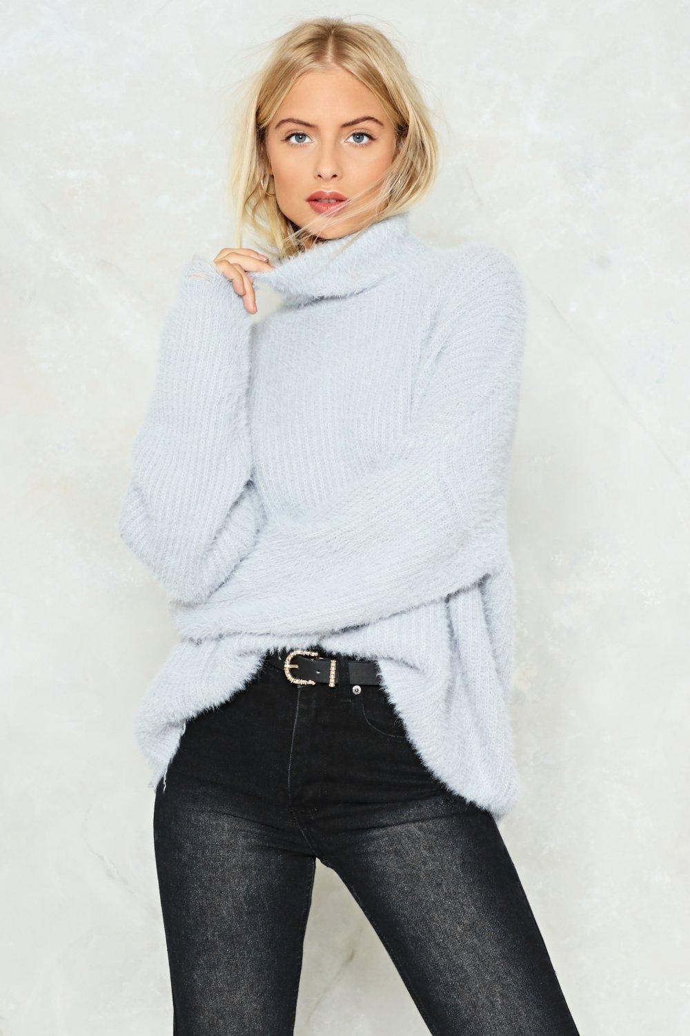 ee0e001c8a6 Womens Grey Knit s a Miracle Turtleneck Sweater