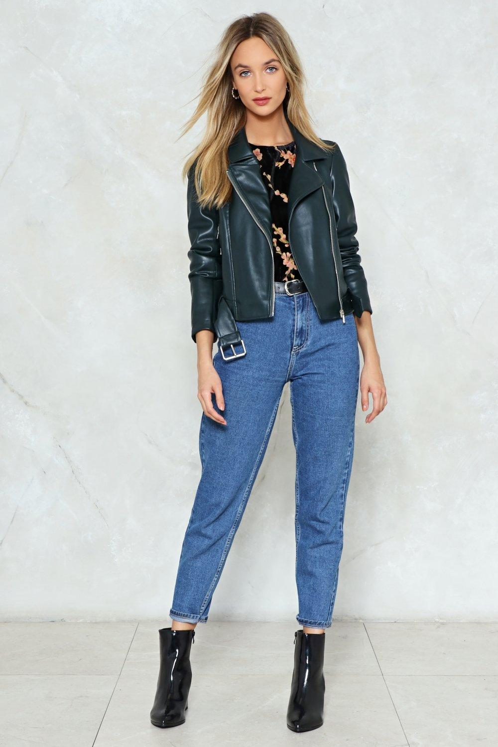 Together For-Leather Faux Leather Moto Jacket   Shop Clothes at ...