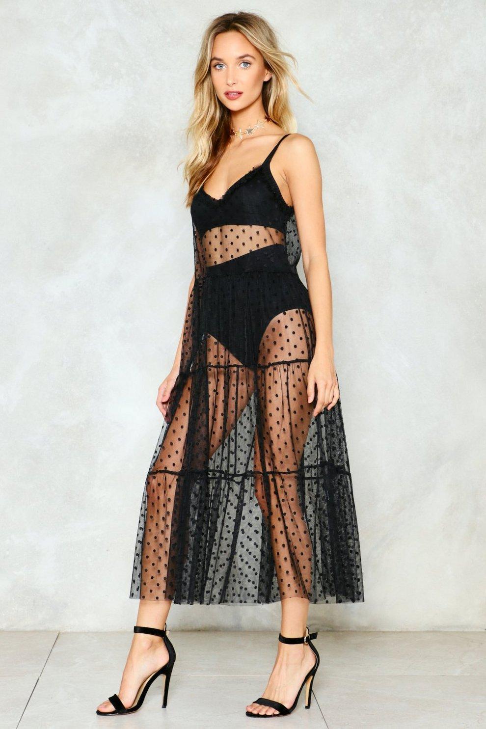 8d34b1d20a3fb2 Hot Spot Mesh Maxi Dress | Shop Clothes at Nasty Gal!