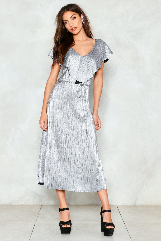 Quicksilver Metallic Midi Dress | Shop Clothes