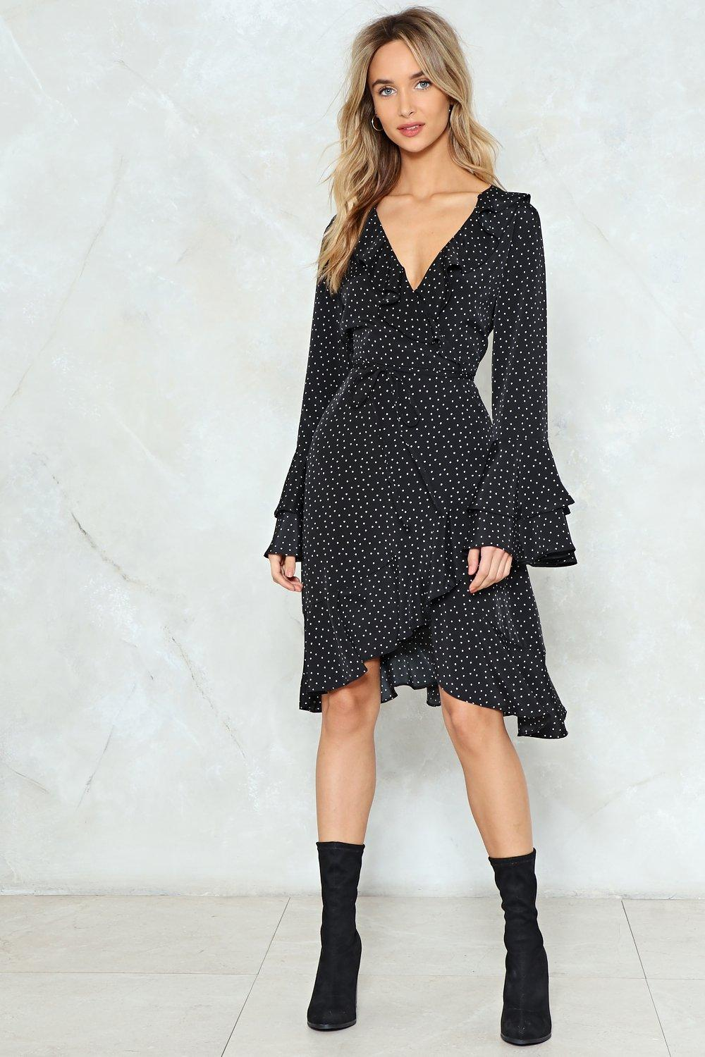 1786e801076 City of Stars Wrap Dress. Hover to zoom