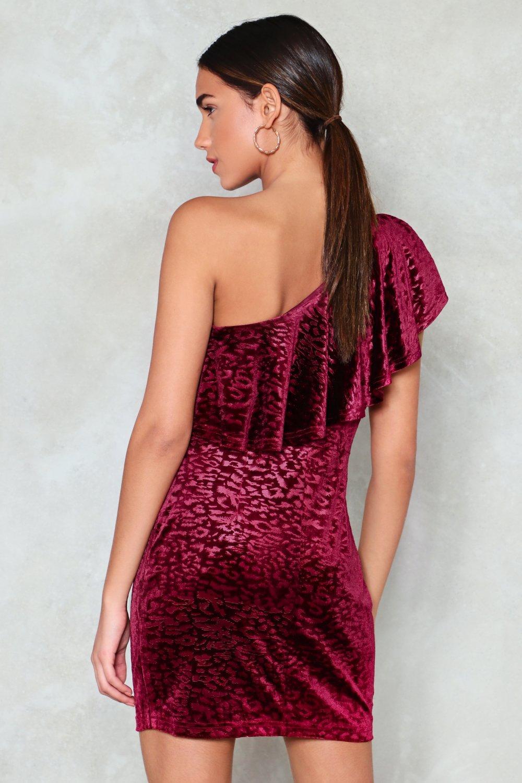 e2ed92b9a7 On the Prowl Velvet Leopard Dress