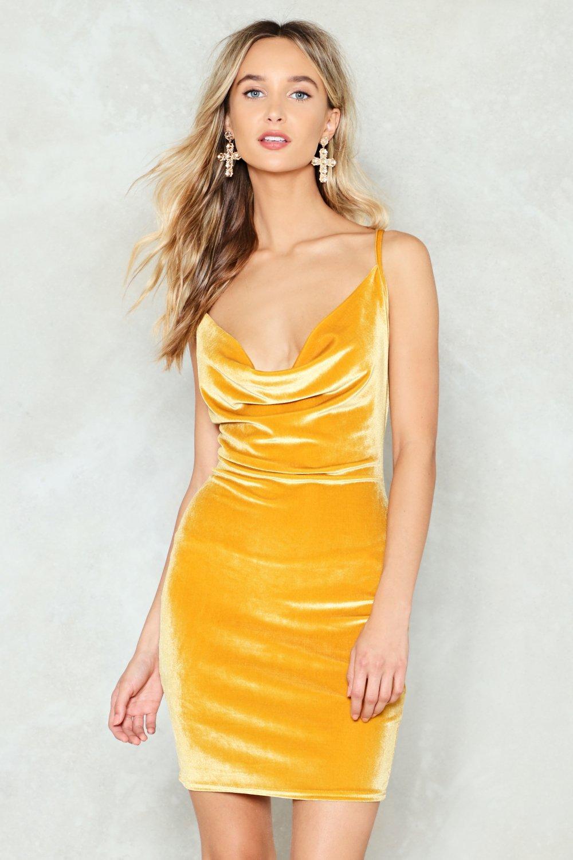 Cowlin For You Velvet Mini Dress Nasty Gal