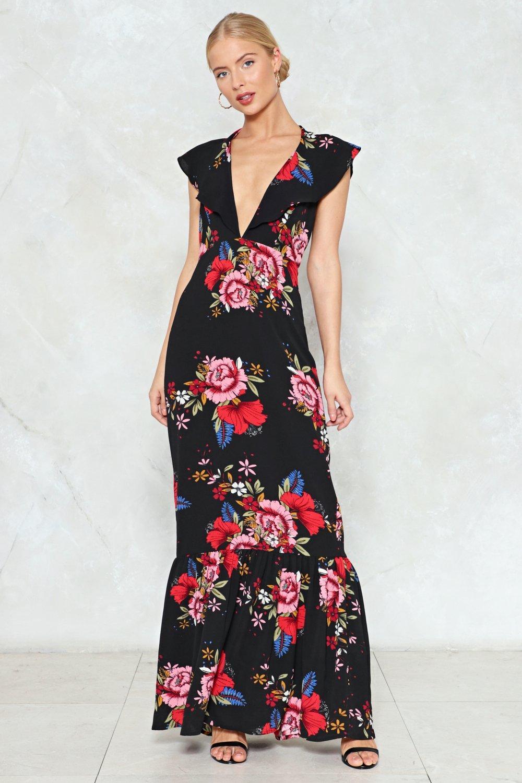 fb977ed8a8ba It s a Long Dive Floral Maxi Dress