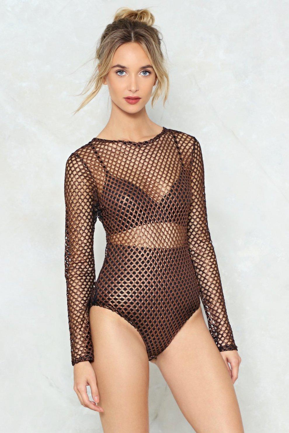 Just Can t Net Enough Fishnet Bodysuit  f68951ed7