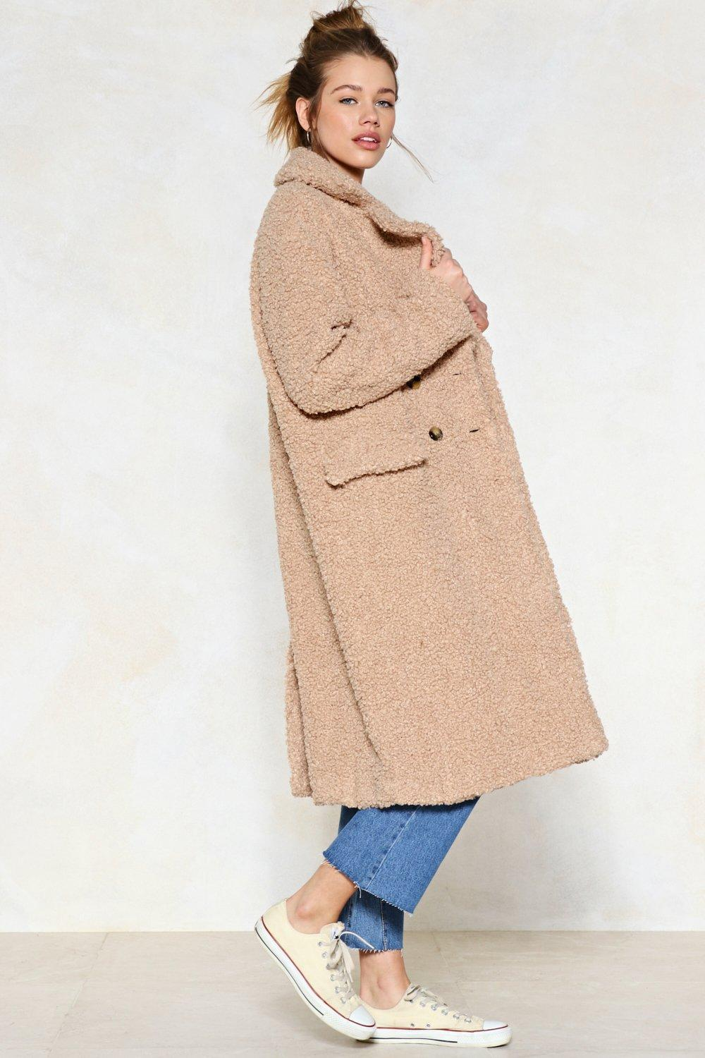 Faux Shearling Teddy Coat