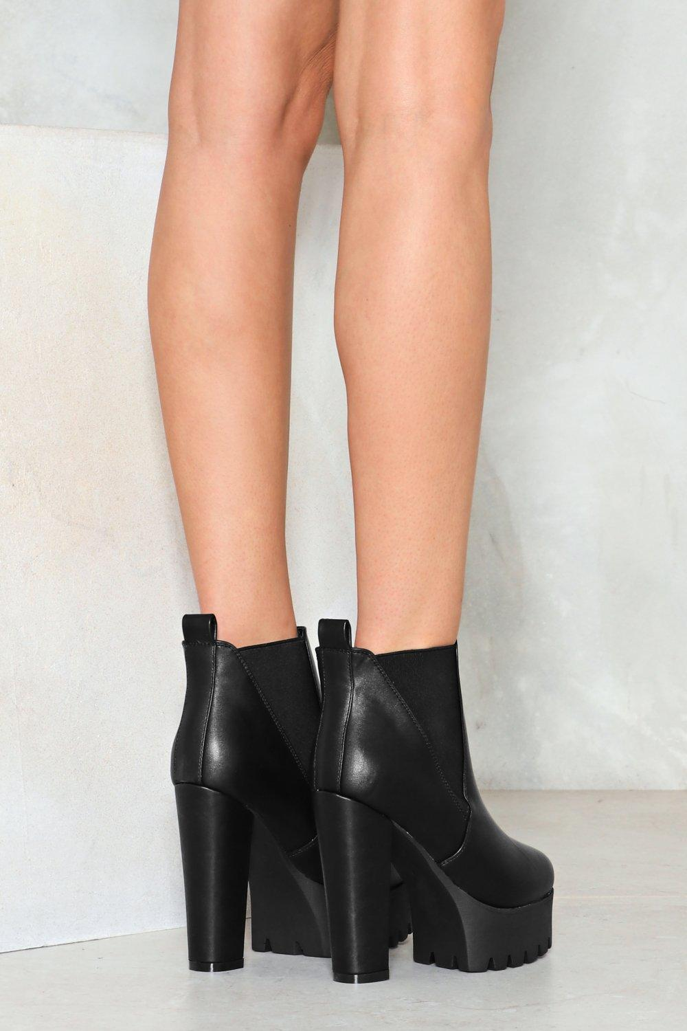 fe45125dc50f1 Planet Rock Faux Leather Ankle Boot