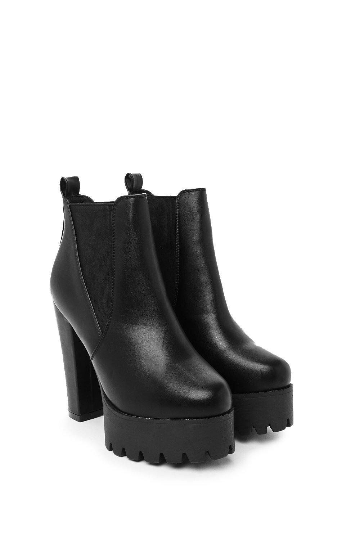 c7c7381a3cc Planet Rock Faux Leather Ankle Boot