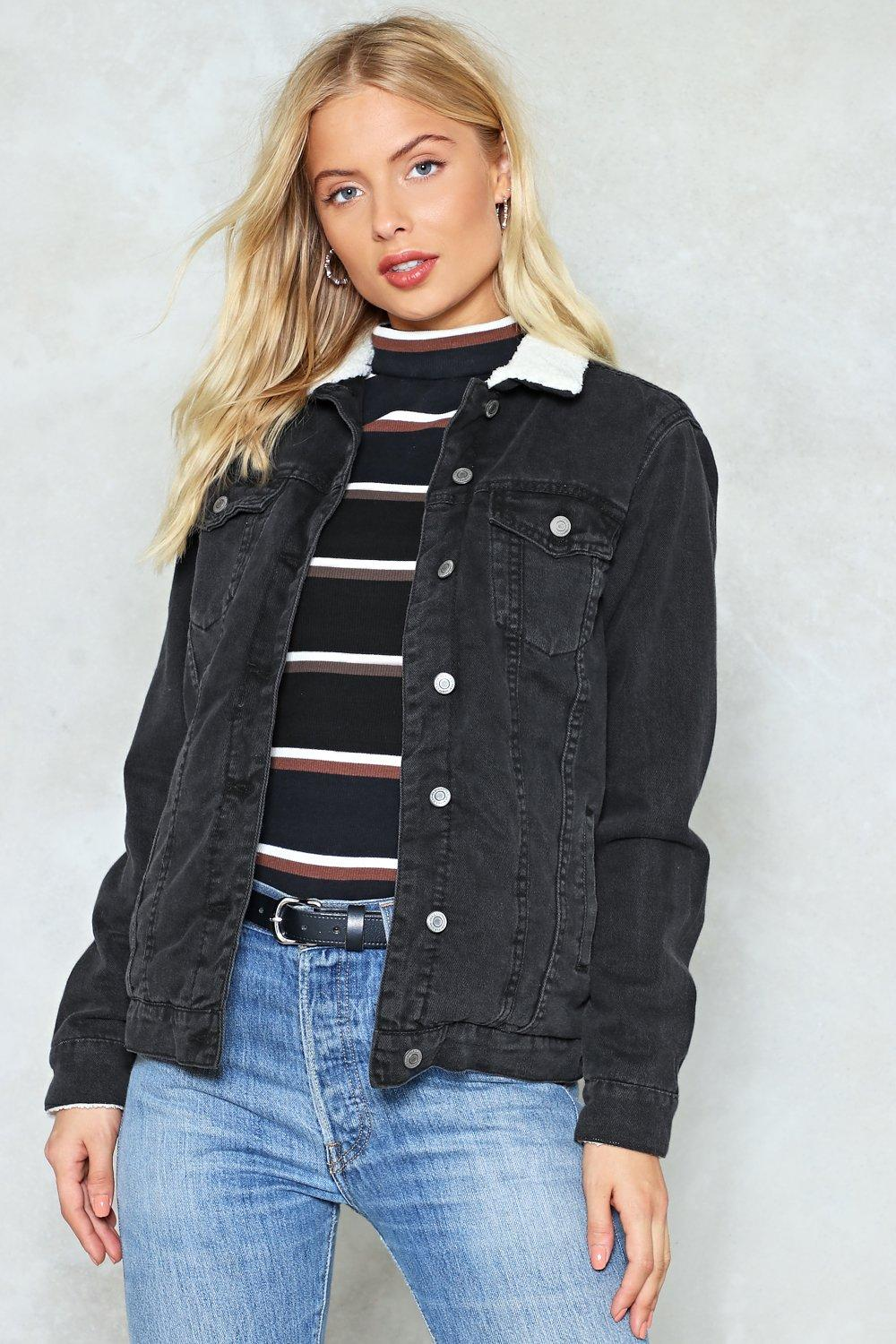 bdfb127ed2d3f Borg Collar Denim Jacket | Shop Clothes at Nasty Gal!
