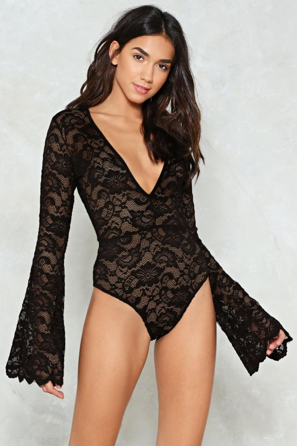 11fb69b6e498 Time to Lace the Music Plunging Bodysuit