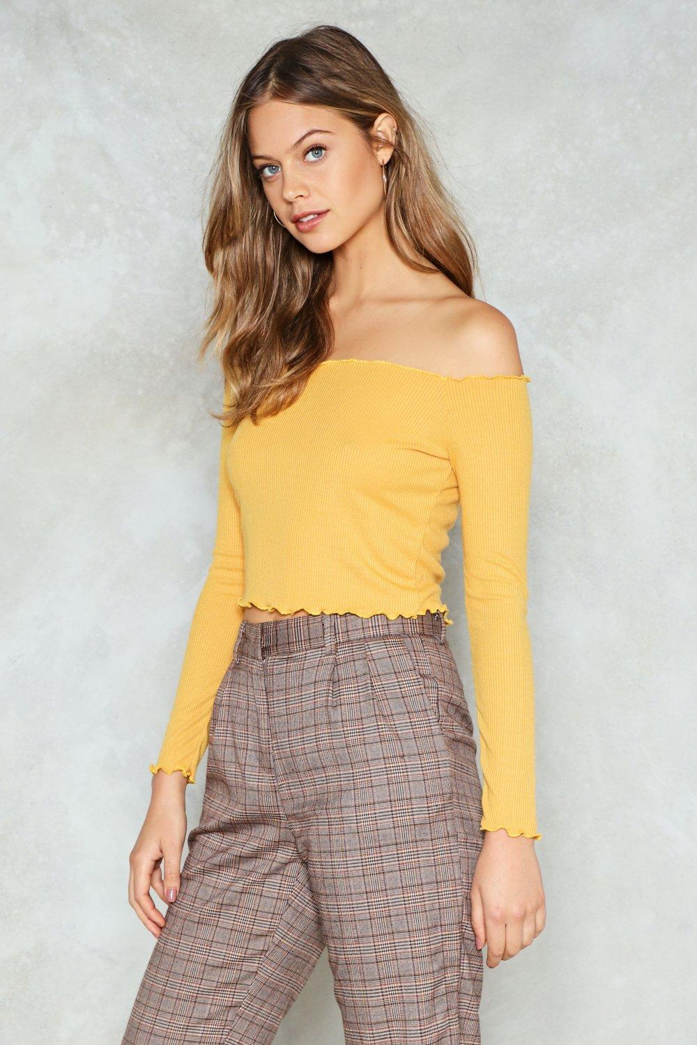 8d1fe63787a You've Got the Edge Ruffle Crop Top | Shop Clothes at Nasty Gal!