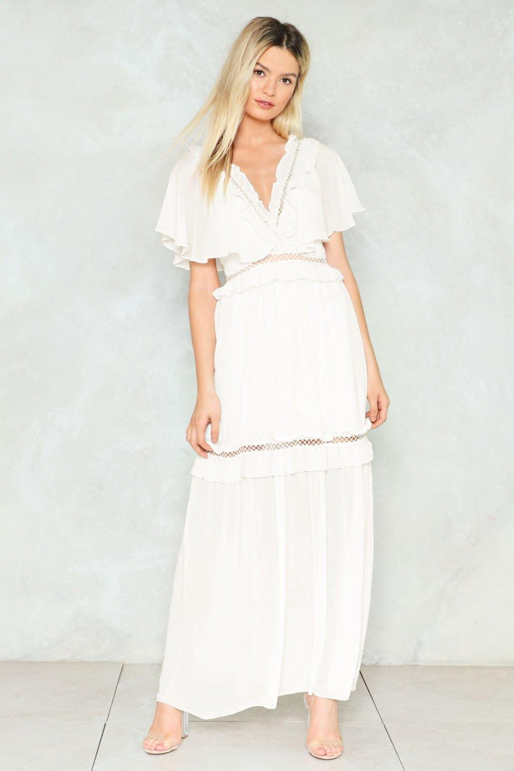 62e8749a2c7 Lets Get Loud Maxi Playsuit In White